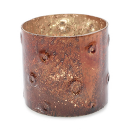 Luman Copper Crater Glass Votive