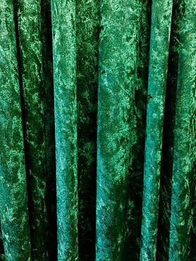 Emerald Green Crushed Velvet Drape