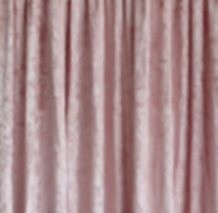 Blush Pink Crushed Velvet Drape
