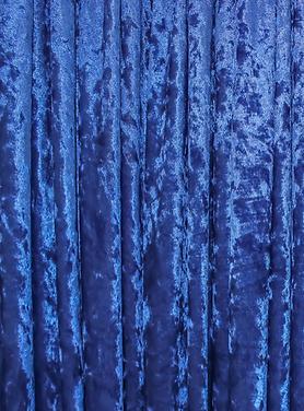Royal Blue Crushed Velvet Drape