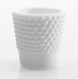 White Milk Glass Heirloom Votive