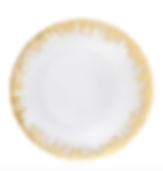 Gold Frosted Glass Charger Plate