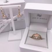 """Jasmine"" Earrings & Ring"