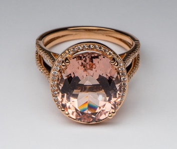 """""""Mary"""" Morganite Cocktail Ring"""