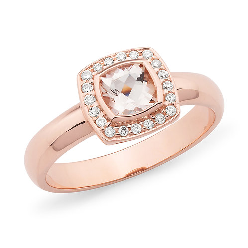 """Babydoll"" Morganite and Diamond Ring"