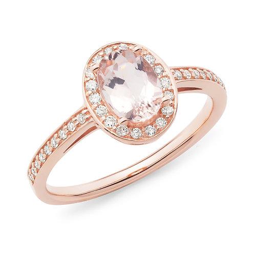 """Sweetheart"" Morganite and Diamond Dress Ring"