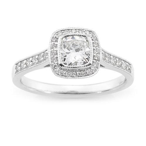 """Princess70"" Cushion Cut Diamond Engagement Ring"