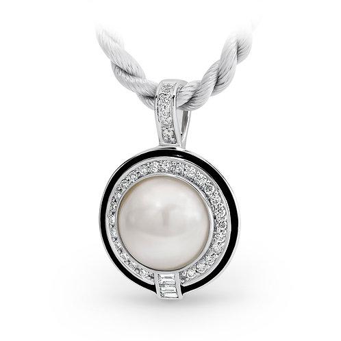 """Icon"" Made Pearl, Diamond & Enamel Pendant"
