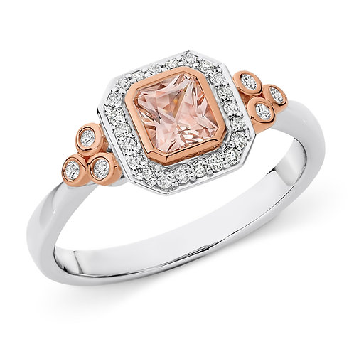 """Romance"" Morganite and Diamond Ring"