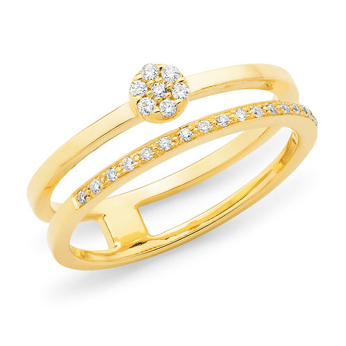 """Daisy"" Spilt Band Diamond Ring"