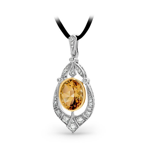 """Paris"" Citrine and Diamond Pendant"