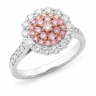 """Estelle"" Pink and White Diamond Ring"
