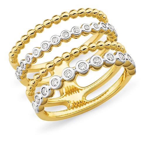 """Gigi"" Multi Band Diamond Ring"