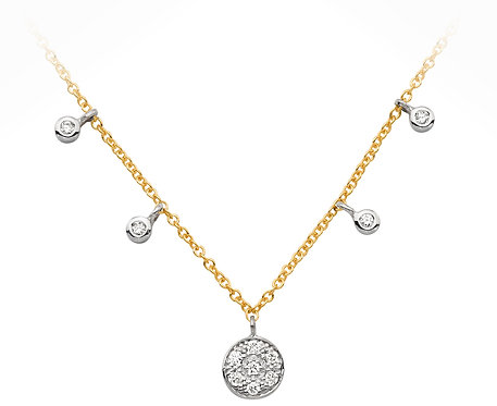 Diamond Set Circle Gold Anklet