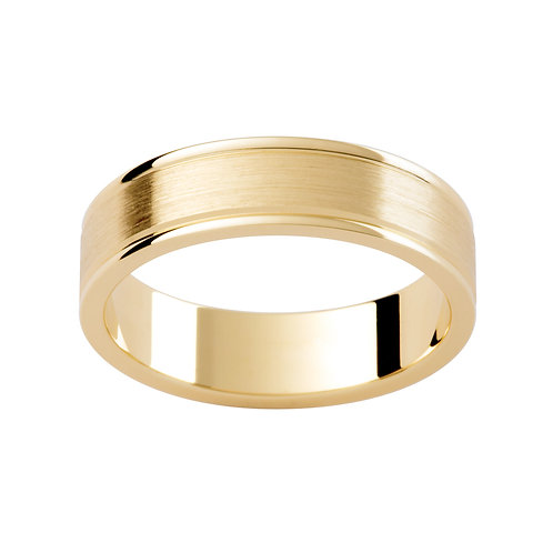 """""""Ares"""" Brushed Finish Grooved Mens Band"""