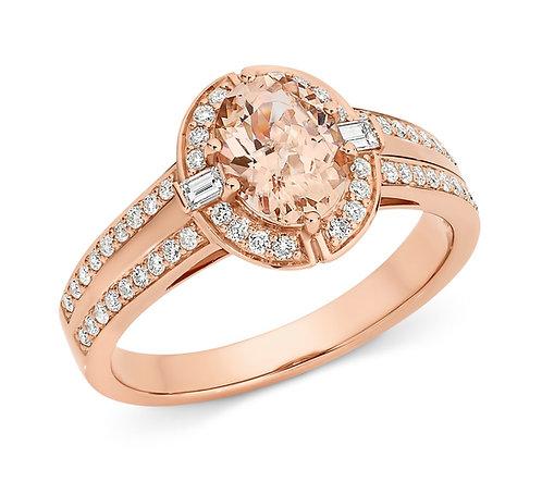 """Lys"" Morganite and Diamond Ring"