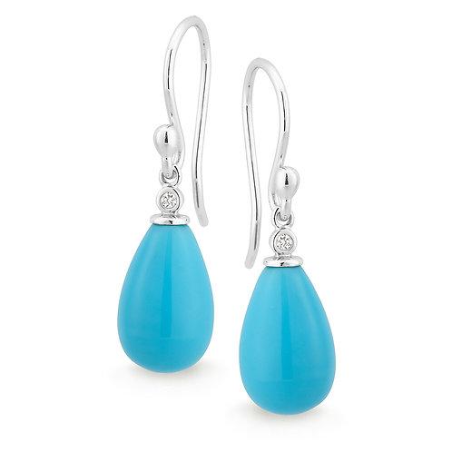 """Lola"" Turquoise and Diamond Drops"
