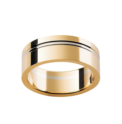 """Atlas"" Banded Gold Gents Ring"