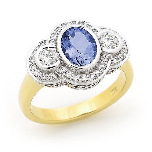 """Lindy"" Ceylon Sapphire and Diamond Dress Ring"