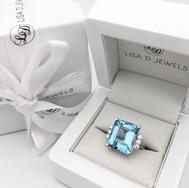 17.00ct Aquamarine and Diamond Ring