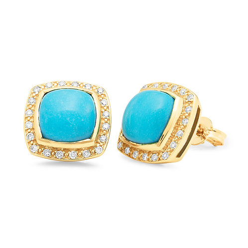 """Cleopatra"" Turquoise and Diamond Earrings"
