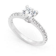 """Angel"" Diamond Engagement Ring"
