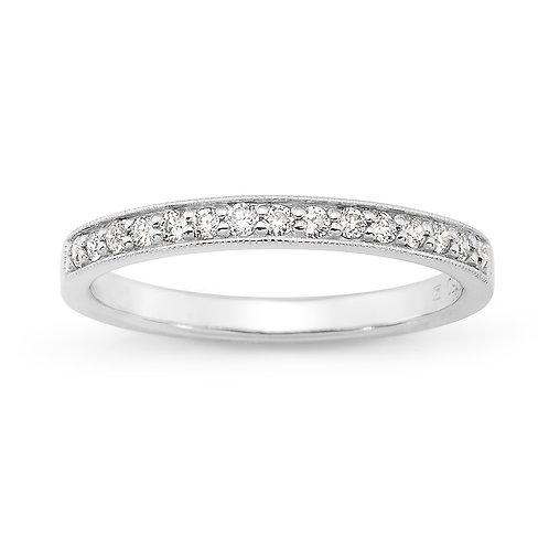 """""""Princess"""" Diamond Wedding Band"""
