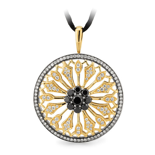 """Everlasting"" Black and White Diamond Pendant"