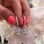 """""""Taylor"""" Detachable Diamond Earrings"""