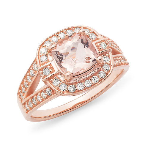 """Margot"" Morganite and Diamond Dress Ring"