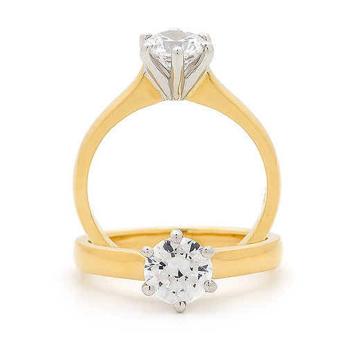"""Sara"" Diamond Solitare Engagement  Ring"