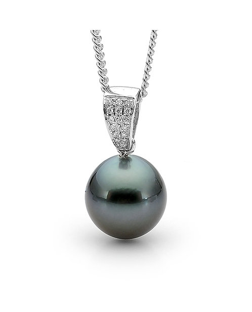 Tahitian Pearl and Diamond Pendant