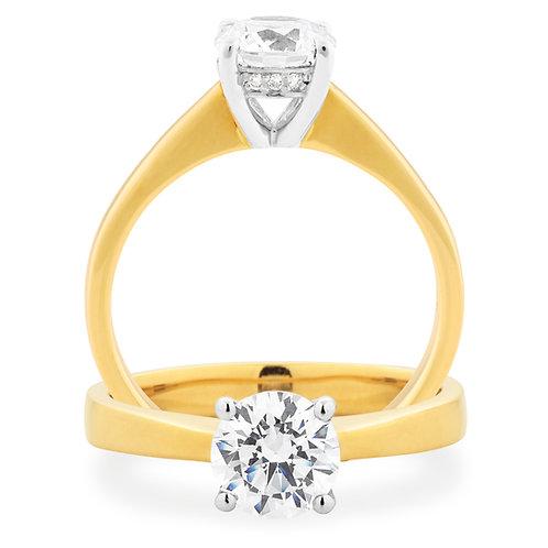 """""""Queen  Sarah"""" Solitare Diamond Engagement Ring"""