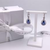 """Sophia"" Ceylon Sapphire & Diamond Earrings"