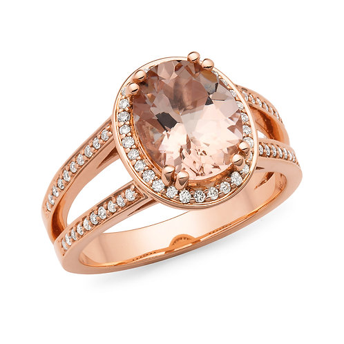 """Romance"" Morganite and Diamond Ring"