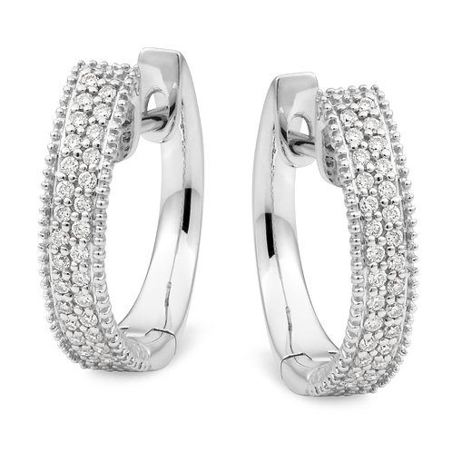 """Josephine"" Diamond Hoop Earrings"