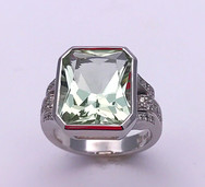 """Green Amethyst """"Cocktail Hour"""" Ring"""
