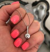 """Angel"" Diamond Pendant"