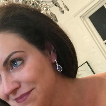 """""""Sophia"""" Ceylon Sapphire Earrings"""