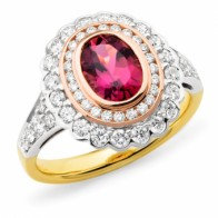"""Dahlia"" Pink Tourmaline Cocktail Ring"