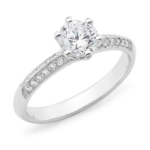 """Evelyn"" Diamond Engagement Ring"