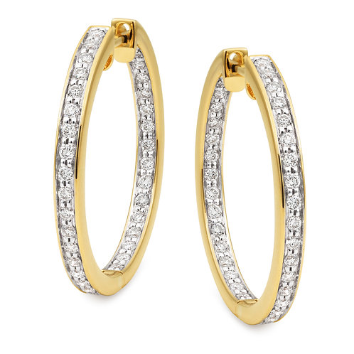 """Milla"" Hinged Diamond Hoops"