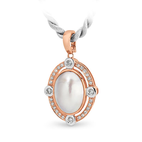 """Luna"" Mabe Pearl and Diamond Enhancer"