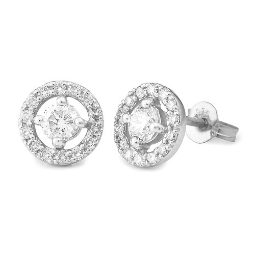"""Lumina100"" Diamond Halo Stud Earrings"