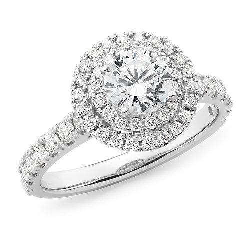 """Queen Lillian"" Diamond Halo Engagement Ring"