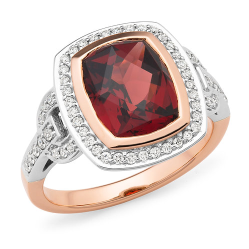 """Ducissa"" Garnet and Diamond Dressring"