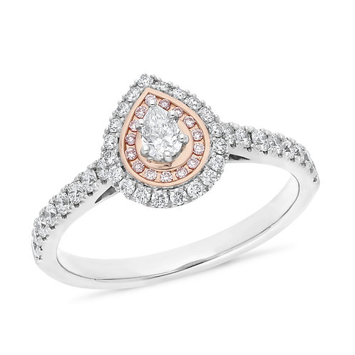 """Daydream"" White and Pink Diamond Ring"