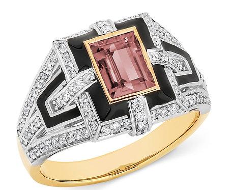 """""""Lynesse"""" Pink Tourmaline and Diamond Dress Ring"""