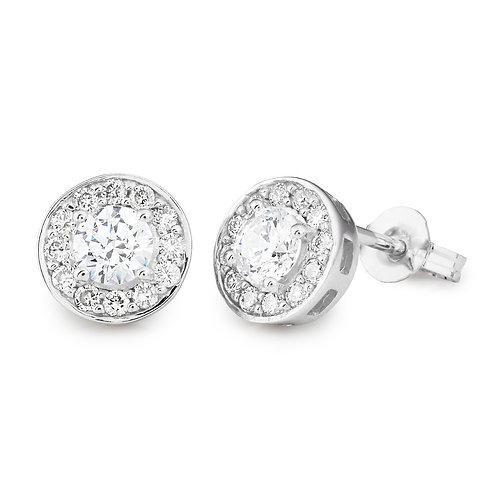 """""""Radiant60"""" Diamond Halo Stud Earrings"""