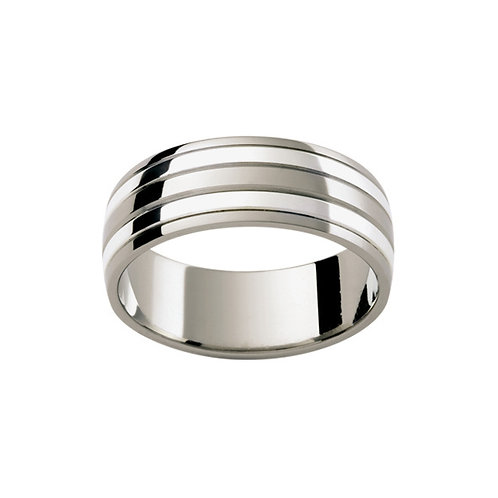 """""""Artemis"""" Mixed 18ct & 9ct White Gold Banded Ring"""
